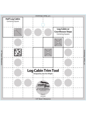 "Log Cabin Trim Tool 8"" by Jean Ann Wright"
