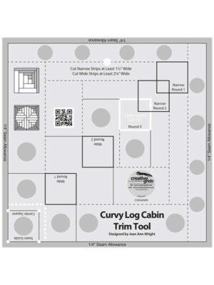 "Curvy Log Cabin Trim Tool 8"" by Jean Ann Wright"