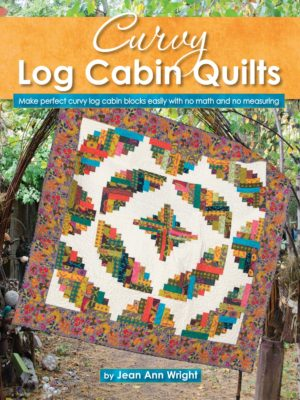 Page from Curvy Log Cabin Quilts book by Jean Ann Wright