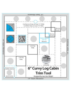 Curvy Log Cabin Trim Tool 6""