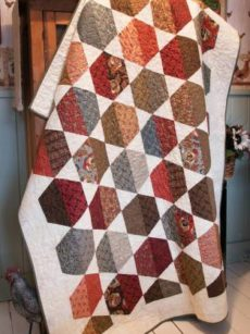 Cut the Cake Hexies pattern by Jean Ann Wright