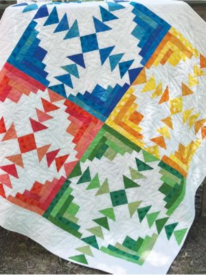 Four Seasons Log Cabin pattern by Jean Ann Wright