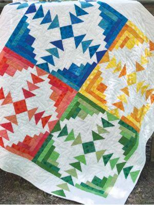 Four Seasons Log Cabin pattern by Jean Ann Wright