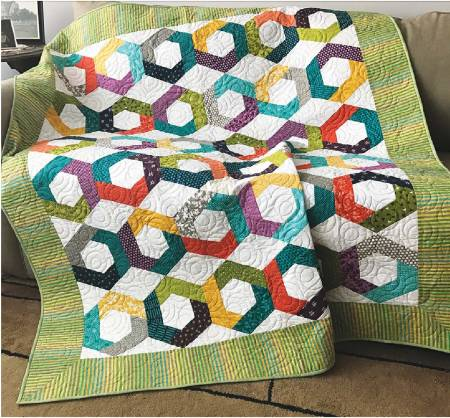 Hexies Go Round pattern by Jean Ann Wright
