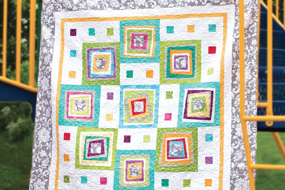 Page from Quilting a Circle of Nine book by Jean Ann Wright