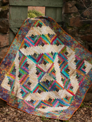 Upstairs Downstairs Log Cabin pattern by Jean Ann Wright
